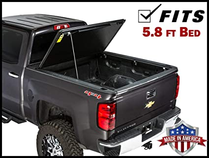 Gator Evo Hard Bi-Fold (fits) 2014-2018 Chevy Silverado GMC Sierra 5 8 FT  Bed ONLY Bi Folding Tonneau Truck Bed Cover (GC15018) Made in The USA (Also