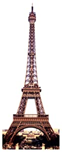 "Paper House Productions 4"" x 1.5"" Die-Cut Eiffel Tower Shaped Magnet for Refrigerators and Lockers"