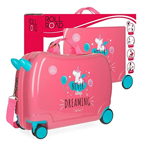 Roll Road Unicorn Equipaje Infantil, 50 cm, 34 Litros, Multicolor