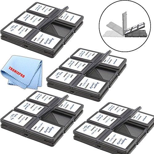 48 Slots, SD/SDHC Memory Card Hard Plastic Cases + Tronixpro Microfiber Cloth