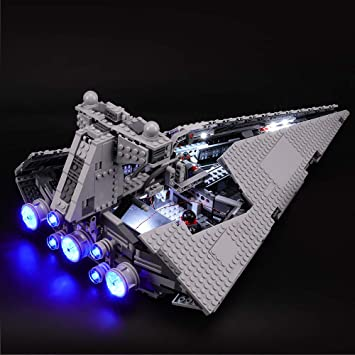 Amazon Com Briksmax Led Lighting Kit For Star Wars Imperial Star Destroyer Compatible With Lego 75055 Building Blocks Model Not Include The Lego Set Toys Games