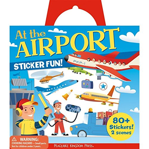 Fun Reusable Window - Peaceable Kingdom Sticker Fun! At the Airport Reusable Sticker Tote