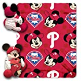 MLB Philadelphia Phillies Pitch Crazy Co-Branded Disney's Mickey Hugger and Fleece Throw Set