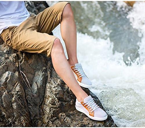 [スポンサー プロダクト][イノヤ]メンズ スニーカー スケートボードシューズ 夏 メッシュ 通気性 フラット メンズシューズ デッキシューズ カジュアル靴 レースアップ ウォーキングシューズ トレッキング 耐摩耗性 防滑
