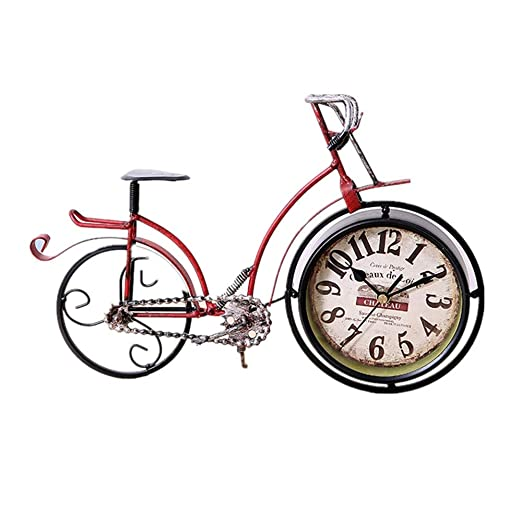 Mostrar Reloj de Chimenea Retro Reloj de Bicicleta Mesas de Noche ...