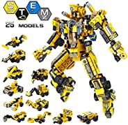 VATOS STEM Building Toys, 573 PCS Robot STEM Toys for 6 Year Old Boys 25-in-1 Engineering Building Bricks Cons