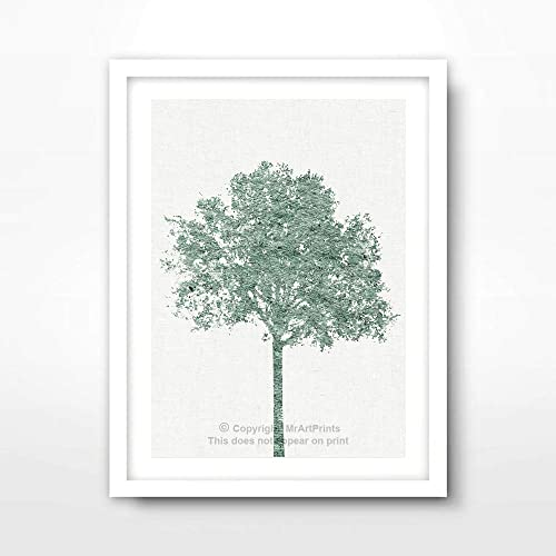 Amazon TREE GREEN ILLUSTRATION DRAWING ART PRINT Poster Nature