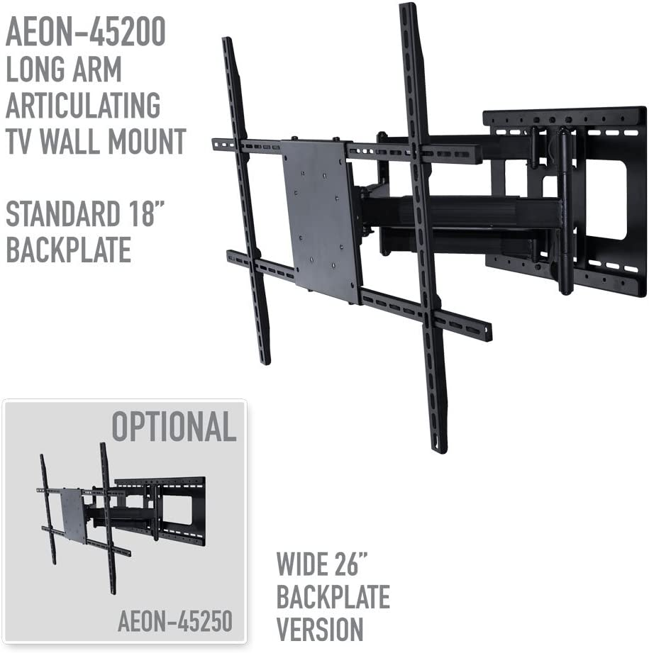 Full Motion TV Wall Mount with 32 inch Long Extension for 42 to 80 inch TVs