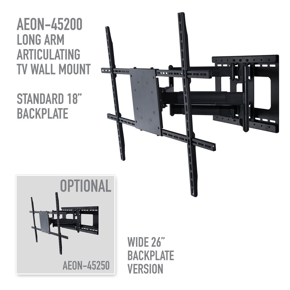 Full Motion Tv Wall Mount With 32 Inch Long Extension Multi Room Distribution System On Wiring Diagram For 42 To 80 Tvs Electronics