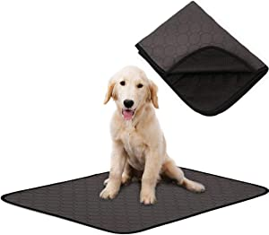 Dog Bed Mat for Crate Kennel, Waterproof Pet Pee Training Pads with Anti-slip Bottom for Puppy Small Medium and Large Doggy, Sleeping Mattress Cushions for Food Bowls|Cage|Car|Sofa,Machine Washable