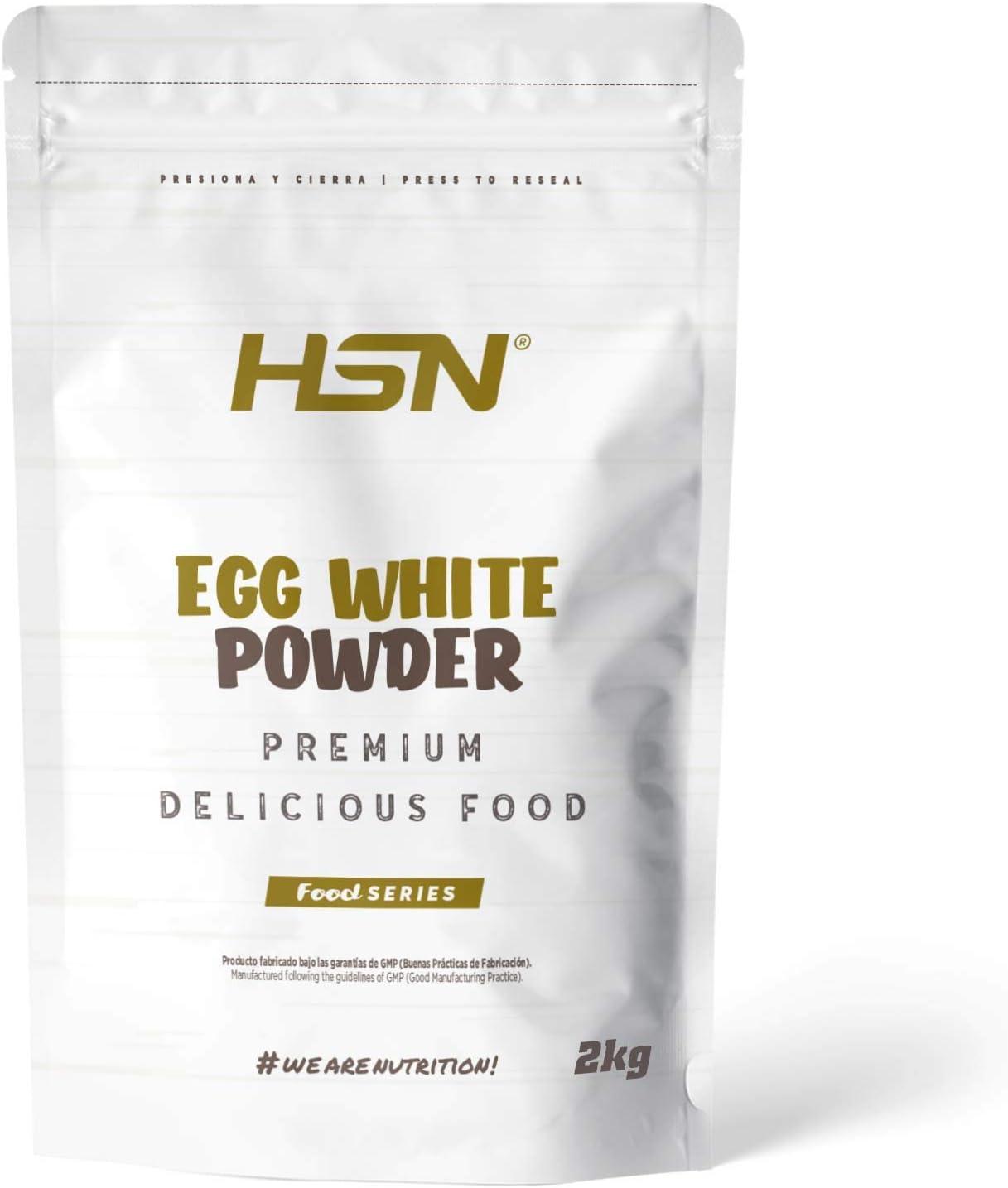 HSN Albumina de Huevo 100% Clara de Huevo en Polvo Deshidratada | Proteína Natural | Sin Grasas, Sin Colesterol, Vegetariano, Sin Gluten, Sin Lactosa, ...