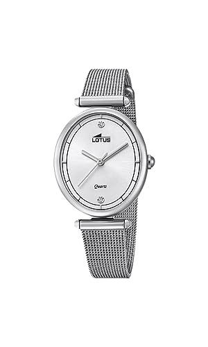 b995bf3d6315 Lotus Watches Reloj Análogo clásico para Mujer de Cuarzo con Correa en  Acero Inoxidable 18448 1  Amazon.es  Relojes
