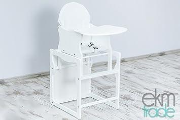Baby Hochstuhl Mit Tisch.Weiß Kinderhochstuhl 2 In 1 Kombi Baby Hochstuhl Stuhl Tisch Holz Kieferholz Ekmtrade