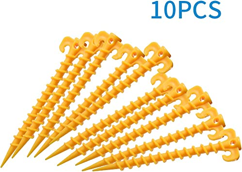 Pack of 20 20cm Plastic Tent /& Awning Pegs