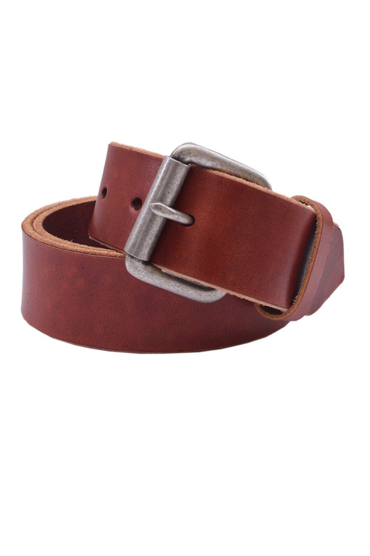 Pacific Gold Stylish Vintage Tan Full Grain Italian Leather Belt for Men-Sz: 34
