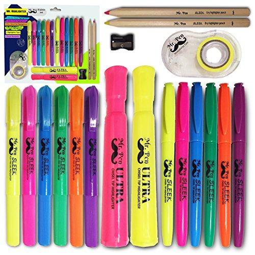 mr-pen-18-pc-highlighter-set-6-gel-bible-highlighter-non-bleed-assorted-color-6-narrow-highlighter-2