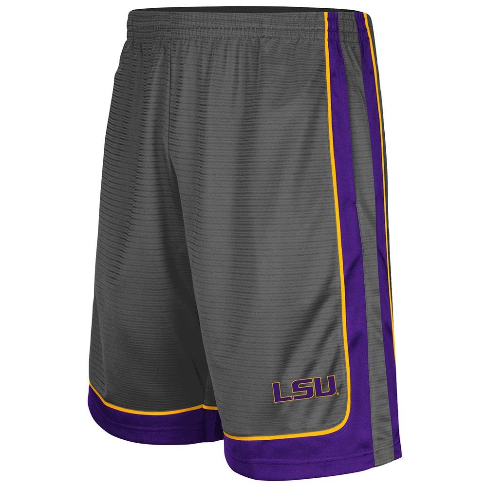Mens basketball shorts on sale free shipping - Free Shipping Mens Ncaa Lsu Tigers Basketball Shorts Charcoal
