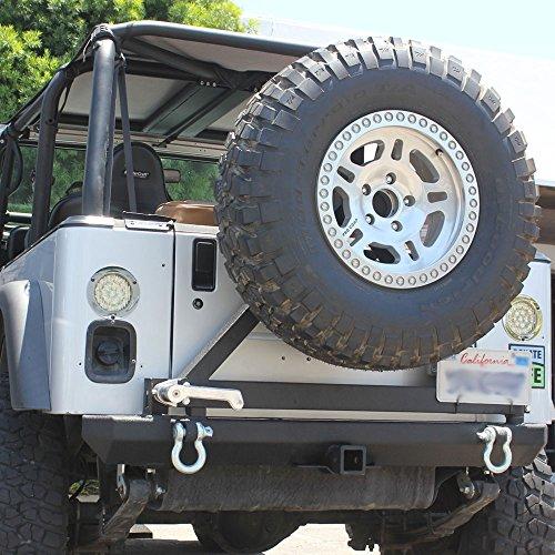 Tuff Stuff 87-06 Jeep Tj & Yj Rock Crawler Rear Jeep Bumper & Tire Carrier (Jeep Bumper Yj compare prices)