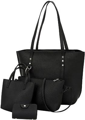 Wallet Casual Classic Vintage Satchels Beach Party Tote Purse Messenger Bag Handbag Sale Clearance Women Bag Halijack 4Pcs Womens Pattern Leather Shoulder Bag Crossbody Bag