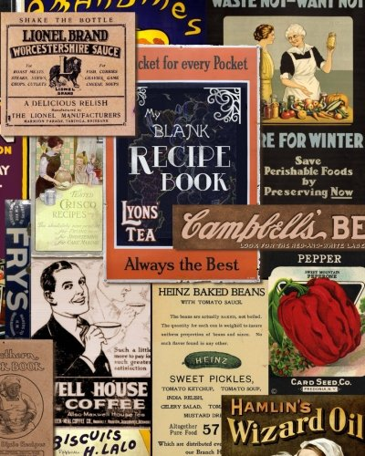 Blank Recipe Book: Recipe Journal ( Gifts for Foodies / Cooks / Chefs / Cooking ) [ Softback * Large Notebook * 100 Spacious Record Pages * Vintage ] ... - Specialist Composition Books for Cookery)