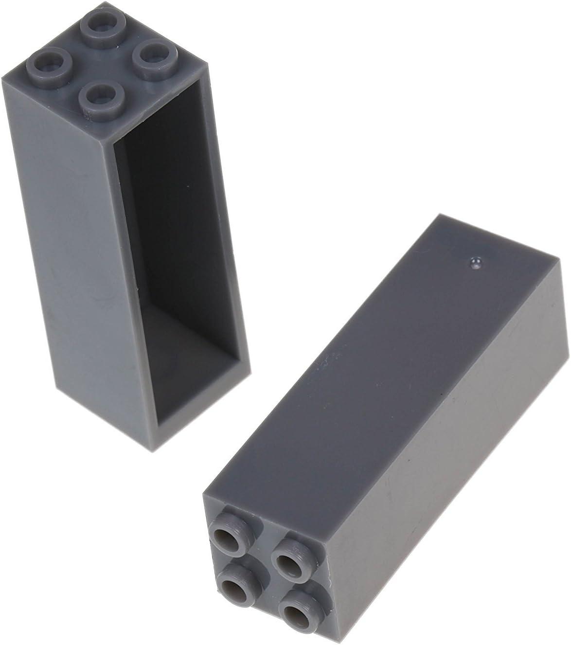 Strictly Briks Set per Costruzione Torre - Include 4 basi impilabili e pilastri 2x2 - compatibili con Tutte Le Principali Marche - 25,4 x 25,4 cm - Turchese Grigio