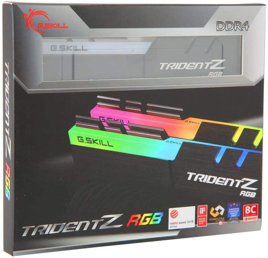 G.Skill TridentZ RGB Series 16GB (2 x 8GB) 288-Pin DDR4 SDRAM DDR4 3200 (PC4 25600) Desktop Memory F4-3200C16D-16GTZRX