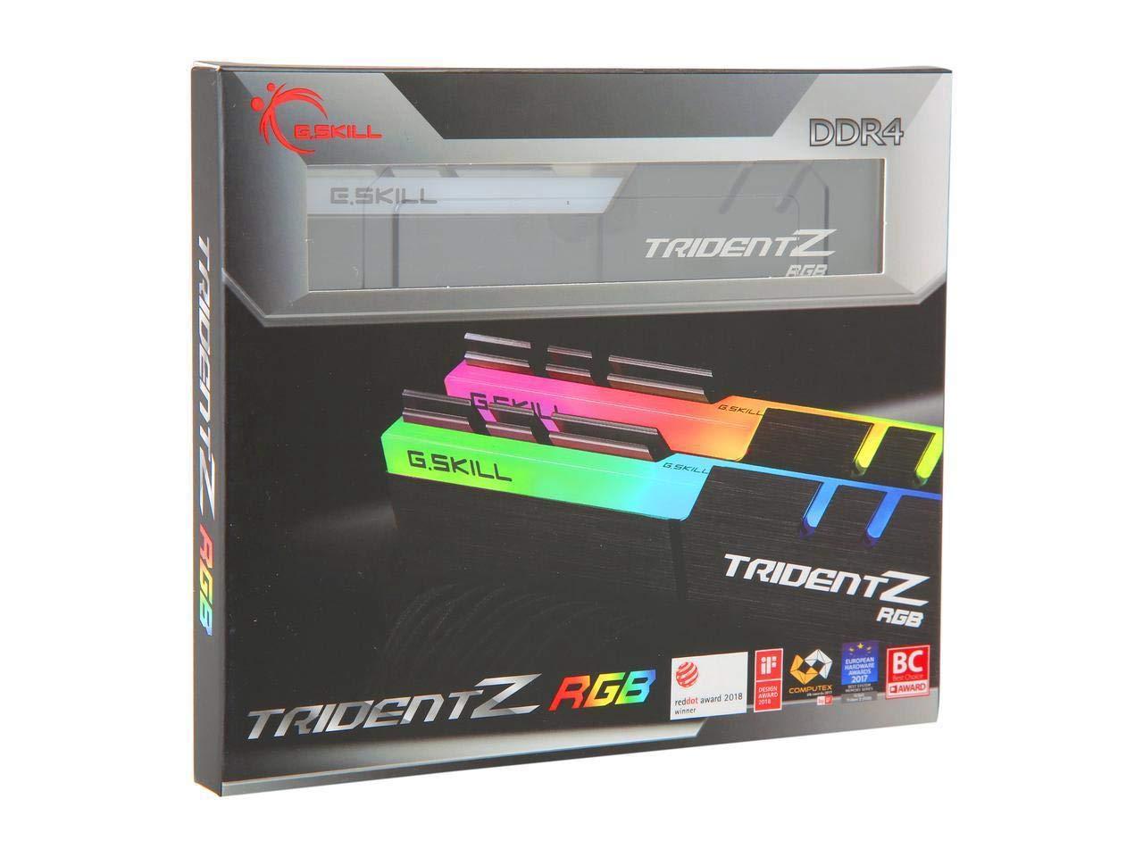 Memoria Ram 16gb G.skill Tridentz Rgb Series (2 X 8gb) 288-pin Ddr4 Sdram Ddr4 3200 (pc4 25600) F4-3200c16d-16gtzrx
