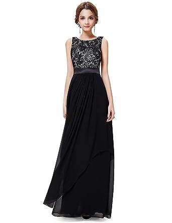 Amazon.com: Ever Pretty Elegant Sleeveless Round Neck Evening ...