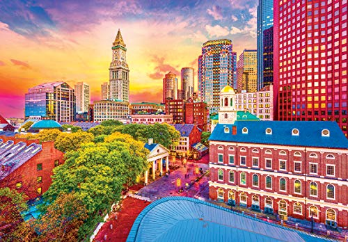 LPF Kodak Premium Puzzles: Boston Historic Skyline, Massachusetts 1500 pc Jigsaw - Boston Puzzle