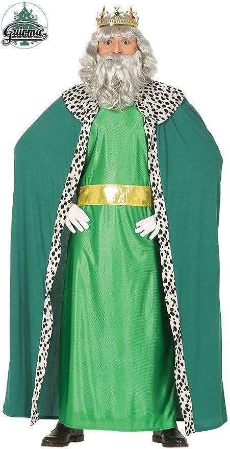 GUIRMA-Costume Re Magio Melchiorre, Color Verde, L (52-54), 41688 ...
