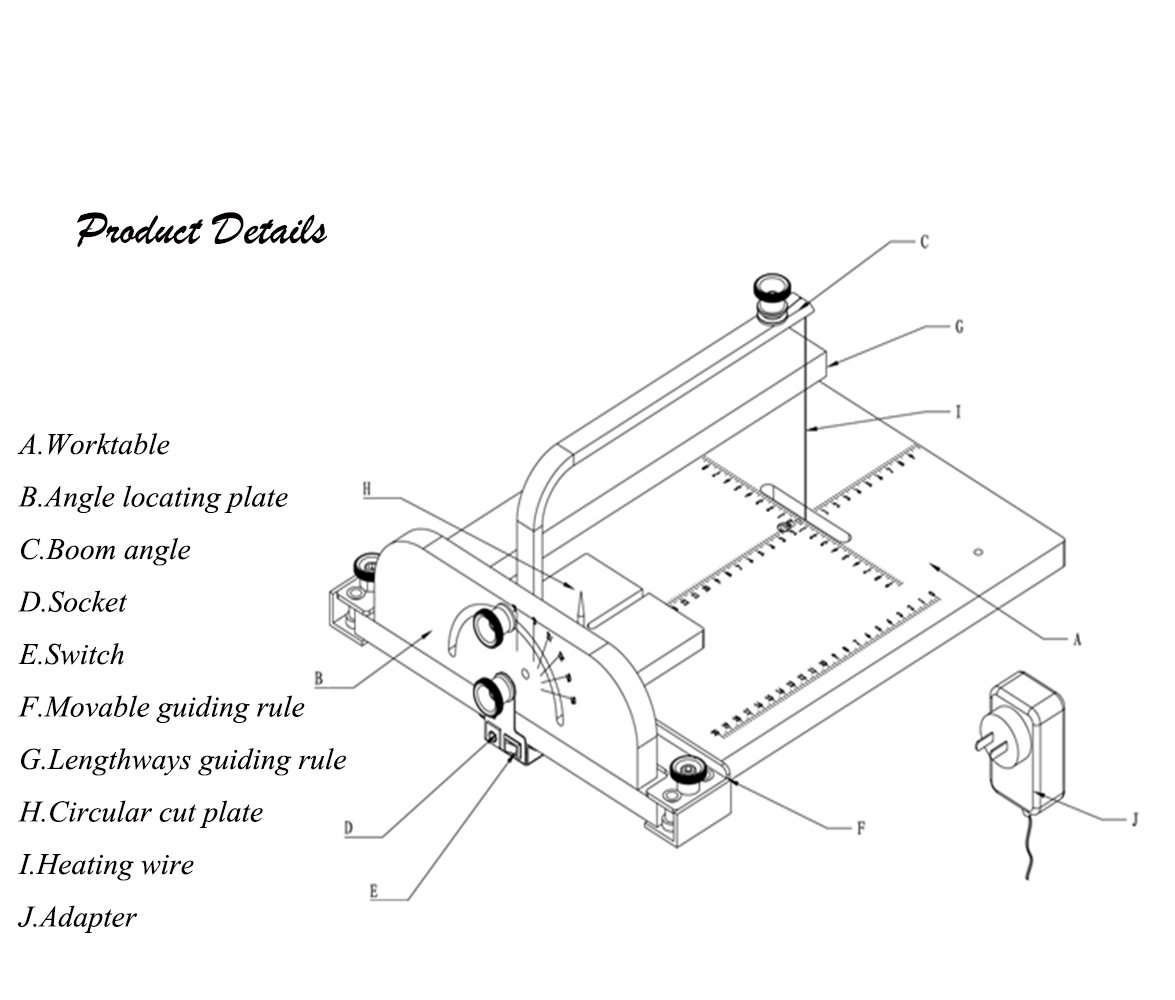 diy foam cutter wiring diagram best wiring libraryamazon com roy board foam cutting machine, best micromot hot wire cutter thermocut
