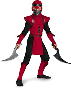 Shadow Ninjas Night Fury Red Viper Ninja Deluxe Boys Costume, 4-6
