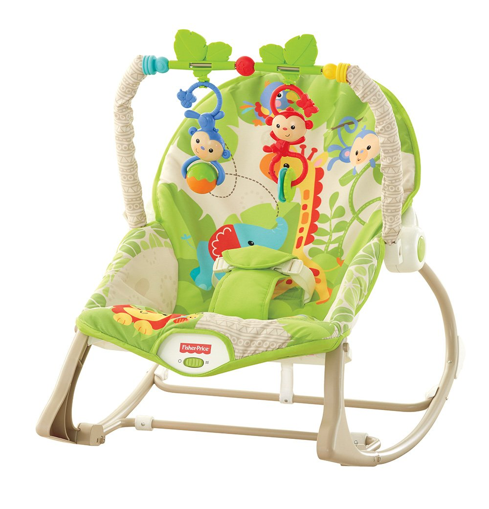 Fisher Price Hamaca crece conmigo monitos divertidos color verde Mattel CBF