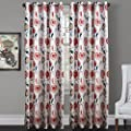 25 Sizes Available Contemporary Print Oriental Ink Painting Style Floral Blossoms Blackout Lining Window Treatment Draperies & Curtains Panels