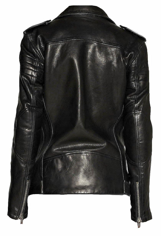 Classyak Womens Fashion Brando Style Real Leather Jacket