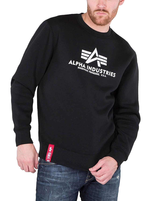 Alpha Industries Brand Logo Basic Sweater Freizeit Sport Militär Sweatshirt