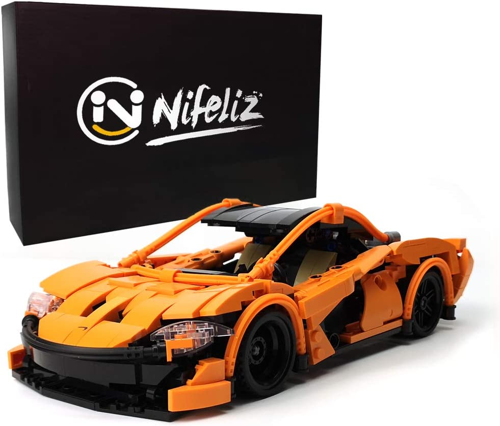 Nifeliz Pull-Back Car P1 MOC Building Blocks and Construction Toy, Teen Collectible Model Car Set to Build, 1:16 Scale Sports Car (708 Pcs)