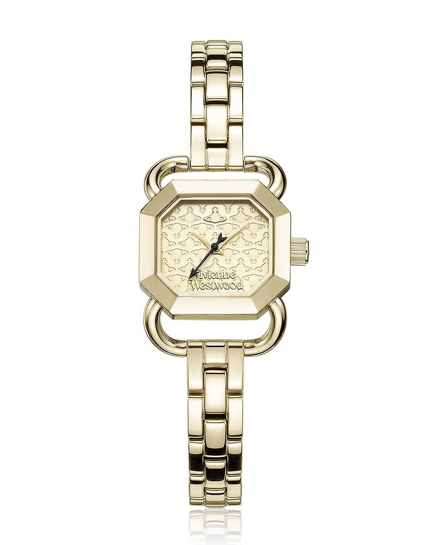 Vivienne Westwood Damen-Armbanduhr Ravenscourt Analog Quarz Edelstahl VV085GDGD