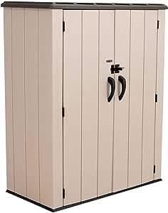 LIFETIME 60326 Vertical Storage Shed, Desert Sand