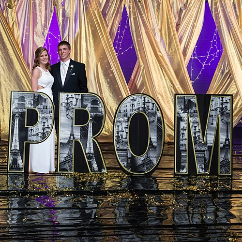 3 ft. 10 in. Paris France Prom Letter Set Standup Photo Booth Prop Background Backdrop Party Decoration Decor Scene Setter Cardboard Cutout