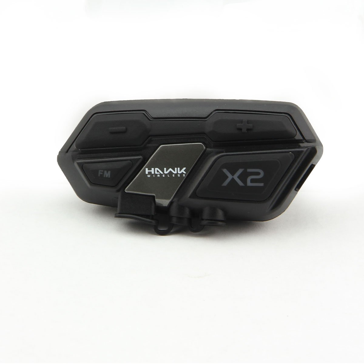 Hawk X2 Black Bluetooth Motorcycle Headset - One Size