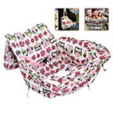 Baby Shopping Cart Cover,Aolvo 2-in-1 Quality High Chair Cover & Dipper Tote Bag Anti-Bacteria Washable Polyester/Germ Cover/No Foreign Stickiness/Phone and Toy Compartments, BPA Free