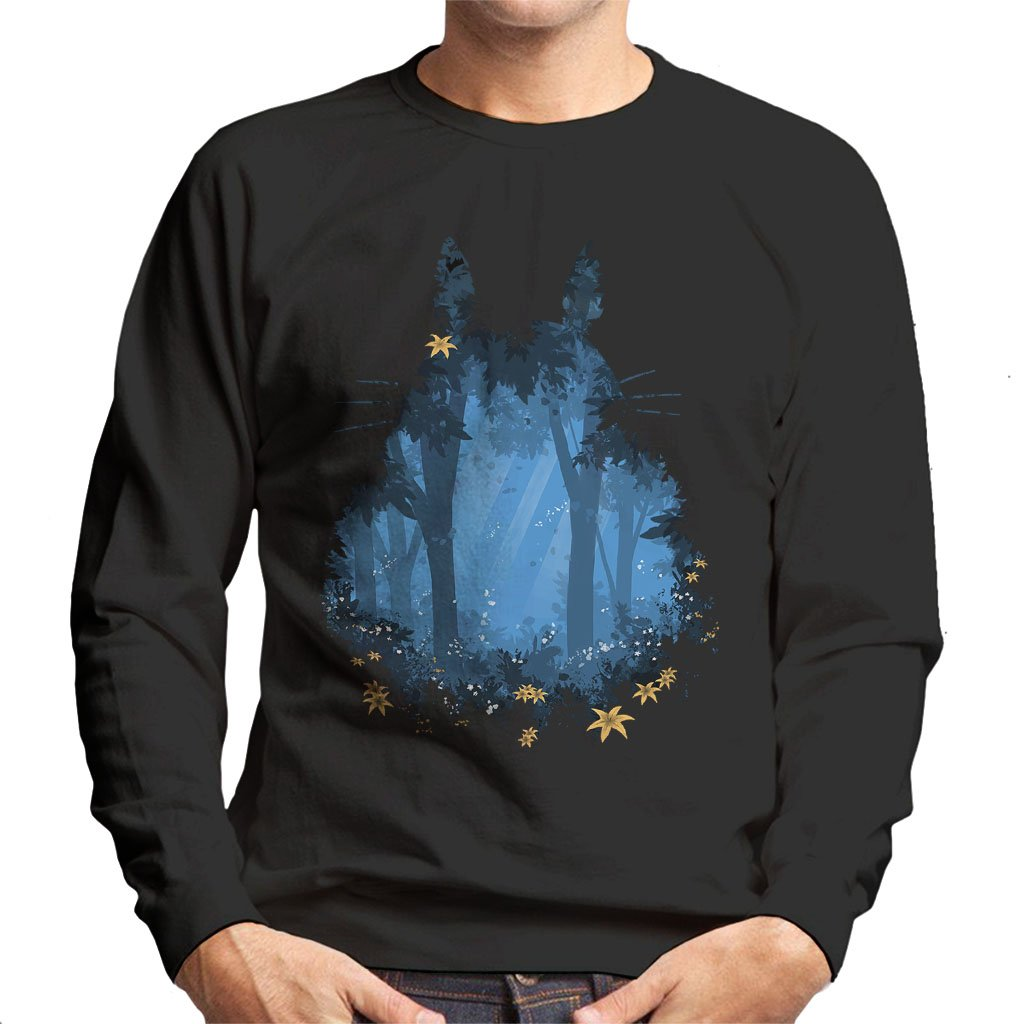 Blue Forest My Neighbor Totoro Men's Sweatshirt