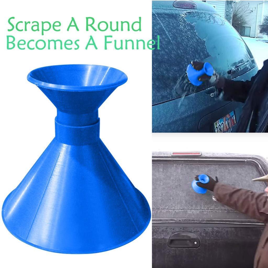 GOBEAUTY Scrape A Round 1 Pack Magic Window Windshield Car Ice Scraper Shaped Funnel Snow Remover Tool