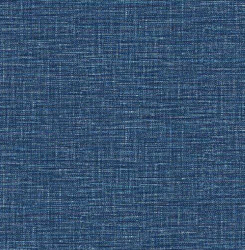 A-Street Prints 2744-24120 Exhale Denim Faux Grasscloth Wallpaper,