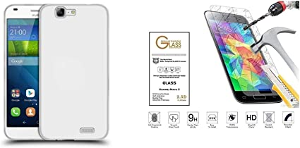 compatibile per HUAWEI ASCEND G7 / G7-L01 / G7 L-03 C199 Copertura CUSTODIA cover CASE soft slim gel SILICONE tpu morbida PELLICOLA vetro TEMPERATO ...