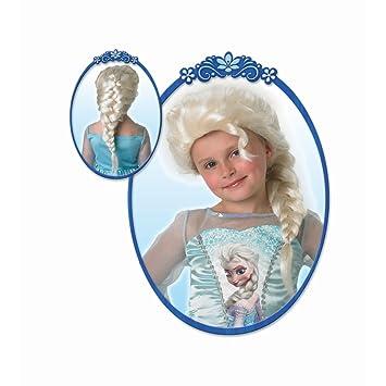 Elsa de la peluca de la peluca de princesa Disney trenza de reina de las hadas