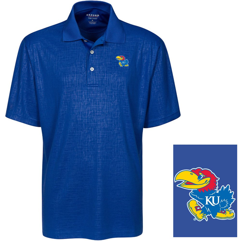 Oxford NCAA Mens Mens Cross Hatched Embossed Polo