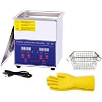 Ultrasonic Cleaner 2L, with Digital Timer&Heater for Jewelry Glasses Watch Dentures Small Parts Circuit Board Dental…