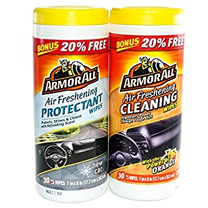 Armor All Air Freshening Wipes Car Interior Cleaning & Protectant Bonus Pack by Armor All